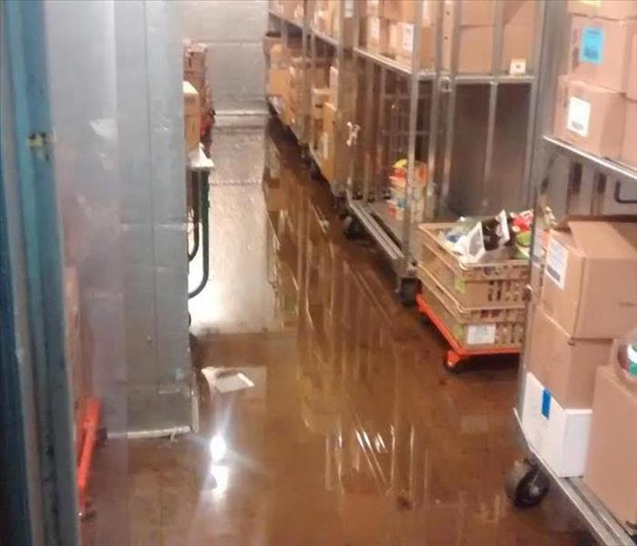 Flooded Backroom at a Grocery Store