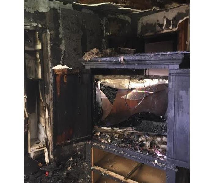 Fire Damage in the Bedroom of a Alameda Home